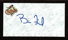 Brian Finch ( Rhp ) Minors 2003-07 Orioles Signed Autograph Auto 3x5 Index Coa