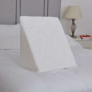 Quilted Polycotton Spare Cover for Bed Wedge Pillow  Pillowcase Washable