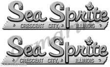 Two Sea Sprite Boat Remastered name plates for boat restoration project.