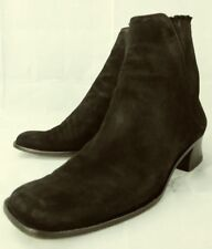 Ralph Lauren Womens Boots Chelsea Ankle US 7 Black Suede Heels purple label 2092