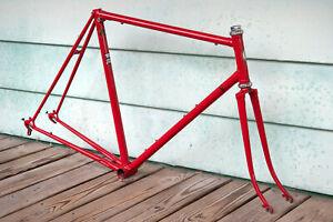 Vintage Legnano Reynolds 531 lugged steel road frame, 57cm, 7.25lbs