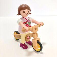 Playmobil City Store Dollhouse 9079 Little Girl Figure & Ladybug Balance Bike