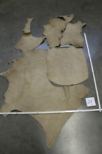 Leather Pieces, Craft Leather, Offcuts Large, Cowhide, Beige Gray, Bags Bag