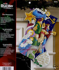 "Bucilla The Procession ~ 18"" Felt Christmas Stocking Kit #86055 Jesus Nativity"