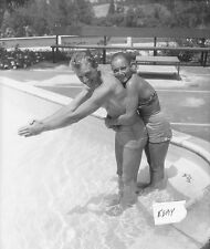 Dan Dailey barechested w/wife at home Vintage Photo