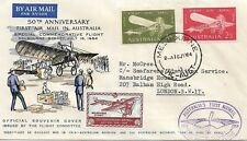 More details for australia 1964 50th anniversary of 1st air mail in australia special cover 2883