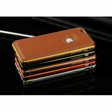 iPhone 6 / 6s Plus Luxury Metal Bumper With Leather Back Panel, Red