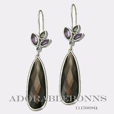 Authentic Lori Bonn Sterling Silver Pizzazz TearDrop Earrings 111506SQ