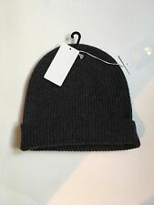 NWT Uniqlo Women's 100% Cashmere Dark Gray Beanie Hat