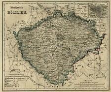 Kingdom of Bohemia Prague City Plan 1854 Biller engraved map