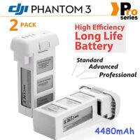 2x For DJI Phantom 3 Professional Intelligent Flight LiPo Battery 4480mAh 15.2V