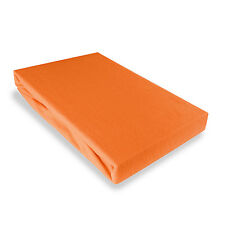 DRAP HOUSSE JERSEY  180 x200cm - ORANGE CAROTTE