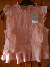 Next Girls Pink Ruffle Blouse Size 10yrs BRAND NEW WITH TAGS