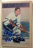 *SIGNED LEO BOIVIN* 1953-54 Parkhurst #6~HOF 1986 Inscription~*EX+* *NO CREASES*