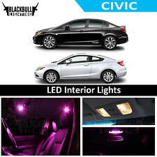 Pink LED Interior Lights Replacement Kit for 2006-2012 Honda Civic 6 bulbs