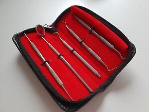 50 x Dental Set mit 1x Mundspiegel und 4x Zahnsteinentferner Zahnsteinkratzer