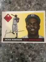 Jackie Robinson Brooklyn Dodgers Topps Reprint Baseball Card