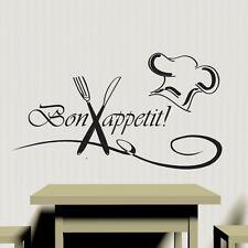 Bon Appétit Cuisine Autocollant Mural Vinyl Decal Art Restaurant Pub DECOR Cook