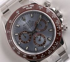 Rolex Daytona 116520 Cosmograph S/Steel 40mm Watch-Ice Blue Dial-Brown Insert