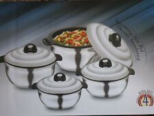 Asian Bright Star Casserole Set Of 4 Thermo Insulated