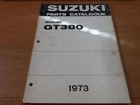 OEM Suzuki 1973 GT380J/K Parts catalogue 2nd Edition