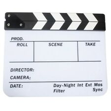 Acrylic Clapboard Dry Erase Movie Clapper Board Slate 29.8 x 24.5cm O7G6