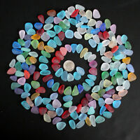 top drilled sea beach glass 10 pcs lot mixed-color tiny pendant jewelry use