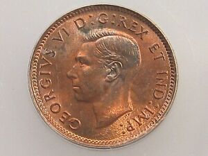 BU 1943 Small Cent CANADA ICG MS64 RB. #16