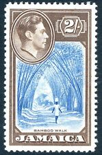 JAMAICA-1938 2/- Blue & Chocolate Sg 131 LIGHTLY MOUNTED MINT V17409