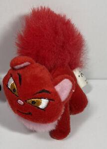 Neopets Red Wocky Cat McDonalds Mini Promo Plush Stuffed Toy 2004