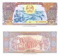 Laos 500 Kip 1988  P-31  Banknotes  UNC