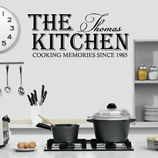 (LARGE) PERSONALISED NAME & DATE COOKING MEMORIES SINCE KITCHEN WALL ART VINYL
