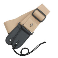 Guitar Fashion Strap Belt Pouch Pocket Cross Quality Cotton ~KHAKI~ +3 Picks