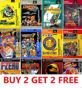 Super Nintendo Classic Japanese Game Covers SNES Poster Room Decor Wall Box Art