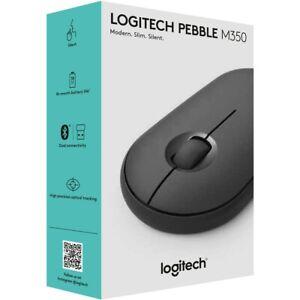 Logitech Pebble M350 Wireless Optical Mouse - Graphite