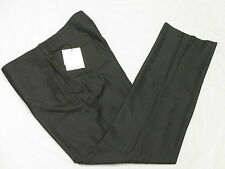 NWT Mens Calvin Klein Pindot Slim Fit Flat Front Dress Pants Black 33x30 33 N008