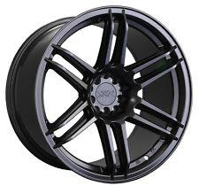 XXR 558 18X9.75 Rims 5x100/114.3 +19 Black Wheels Fits 350z G35 240sx Rx8 Rx7