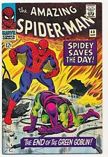 AMAZING SPIDER-MAN 40, 1966 GREEN GOBLIN ORIGIN! NICE! ONE OWNER! Marvel