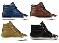 WOMENS TRAINERS SHOES LADIES FLAT LEATHERETTE WINTER FUR LINED SIZE 3,4,5,6,7,8