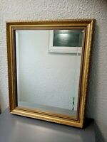 Beautiful Ornate Gold Framed Bevel edged Mirror 20 X 23. 5 Inches