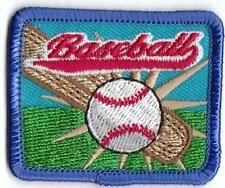 Girl Boy Cub BASEBALL GAME RED Fun Patches Crests Badges SCOUT GUIDE Park Visit