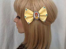 Princess Daisy hair bow clip rockabilly pin up Mario Nintendo bros Luigi yellow