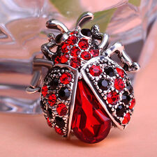 Hot Charms Styles Rhinestone Crystal Fashion Ladybug Brooch Pins Party-Ch Pro AU