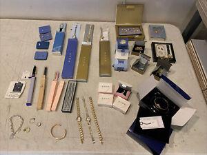 Huge Lot Of Vintage Avon Jewelry Watch Pen Lot New Items