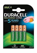Duracell 80411331906 Recharge Ultra Type AAA Batteries 850 mAh Pack of 4