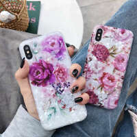 For iPhone XS Max XR 6s 7 8 Plus X Flower Pattern Soft TPU Silicone Case Cover