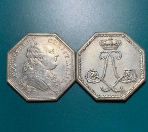 1780-1790 France King Louis XVI Ocatgional Silver Jeton 100% Original