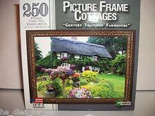 """250 Pcs Jigsaw Puzzle Picture Frame Cottages """"Century Thatched Farmhouse"""" NISB"""