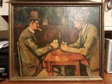 VINTAGE Les Joueurs De Cartes The Card Players Painting