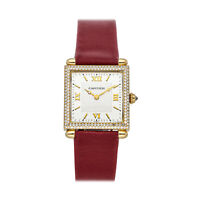 Cartier Tank Obus Yellow Gold Quartz 25mm Diamond Strap Ladies Watch WB800351